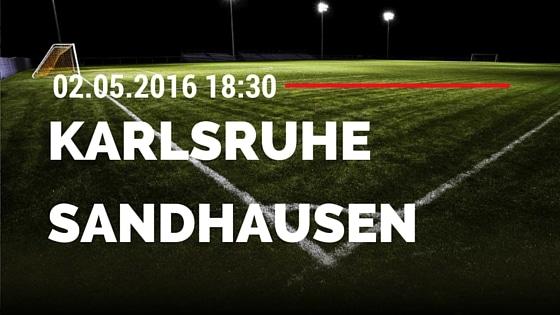 Karlsruher SC vs SV Sandhausen 02.05.2016 Tipp
