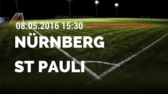 1. FC Nürnberg vs FC St. Pauli 08.05.2016 Tipp