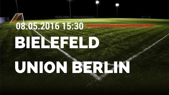 Arminia Bielefeld vs 1. FC Union Berlin 08.05.2016 Tipp