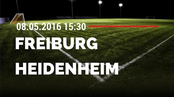 SC Freiburg vs 1. FC Heidenheim 08.05.2016 Tipp