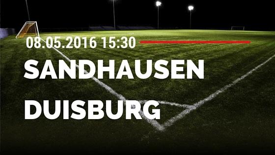 SV Sandhausen vs MSV Duisburg 08.05.2016 Tipp
