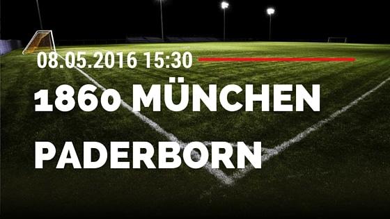 TSV 1860 München vs SC Paderborn 08.05.2016 Tipp