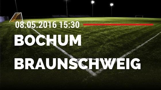 VfL Bochum vs Eintracht Braunschweig 08.05.2016 Tipp