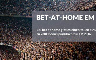 Bis zu 200€ Sport-Bonus bei bet-at-home