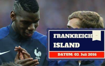 Frankreich vs Island EM Viertelfinale 03.07.2016 Tipp