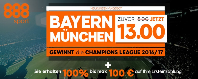 888sport Sonderquote champions League Bayern