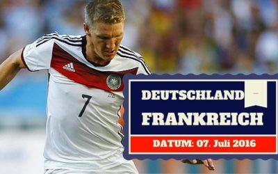 Deutschland vs Frankreich 07.07.2016 Halbfinale Tipp