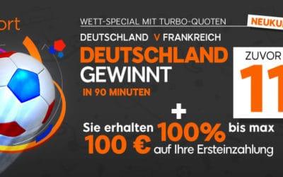 11.00 auf einen Sieg Deutschlands bei 888sports