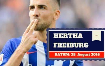 Hertha BSC Berlin vs SC Freiburg 28.08.2016 Tipp