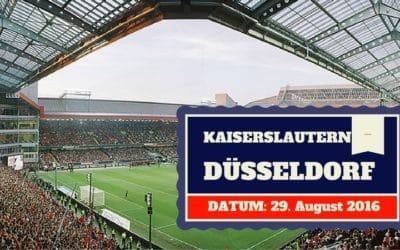 1. FC Kaiserslautern vs Fortuna Düsseldorf 29.08.2016 Tipp