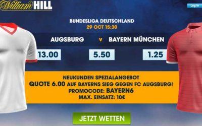 Spezialquoten für Bayern München für Neukunden bei William Hill