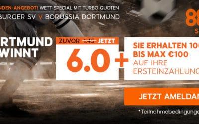 Top-Quote bei 888sports für den HSV gegen den BVB