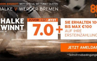 7.0 für Schalke 04 bei 888sports für Neukunden