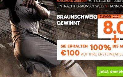 Wett-Special für Hannover-Braunschweig für 888sport-Neukunden