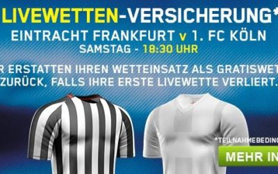 Live-Versicherung bei William Hill für Frankfurt gegen Köln