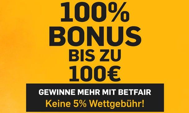 Betfair Sportwetten Bonus Deutschland