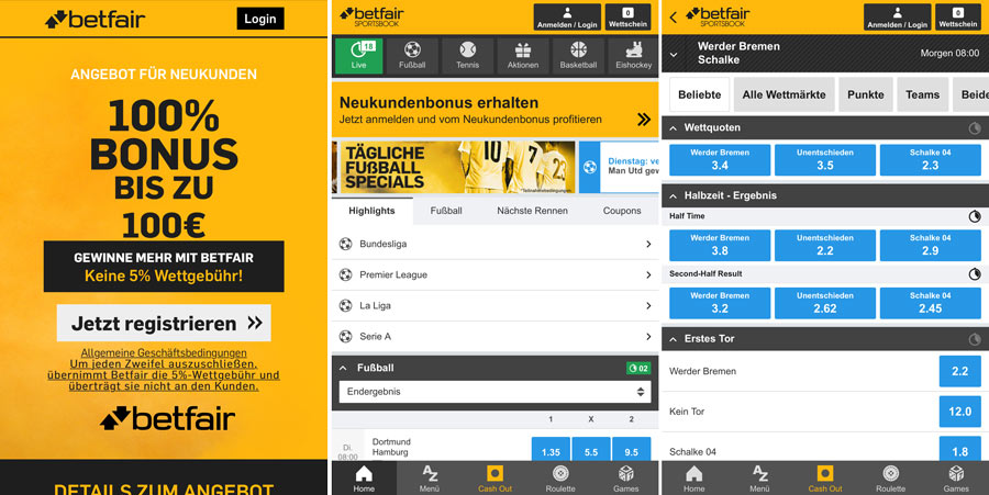 Betfair Mobile Test