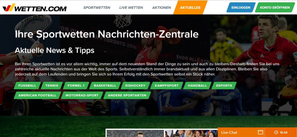 Wetten.com Aktuelles