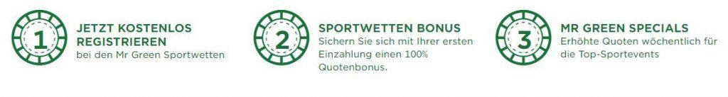 Mr Green sportwetten bonus quotenboost
