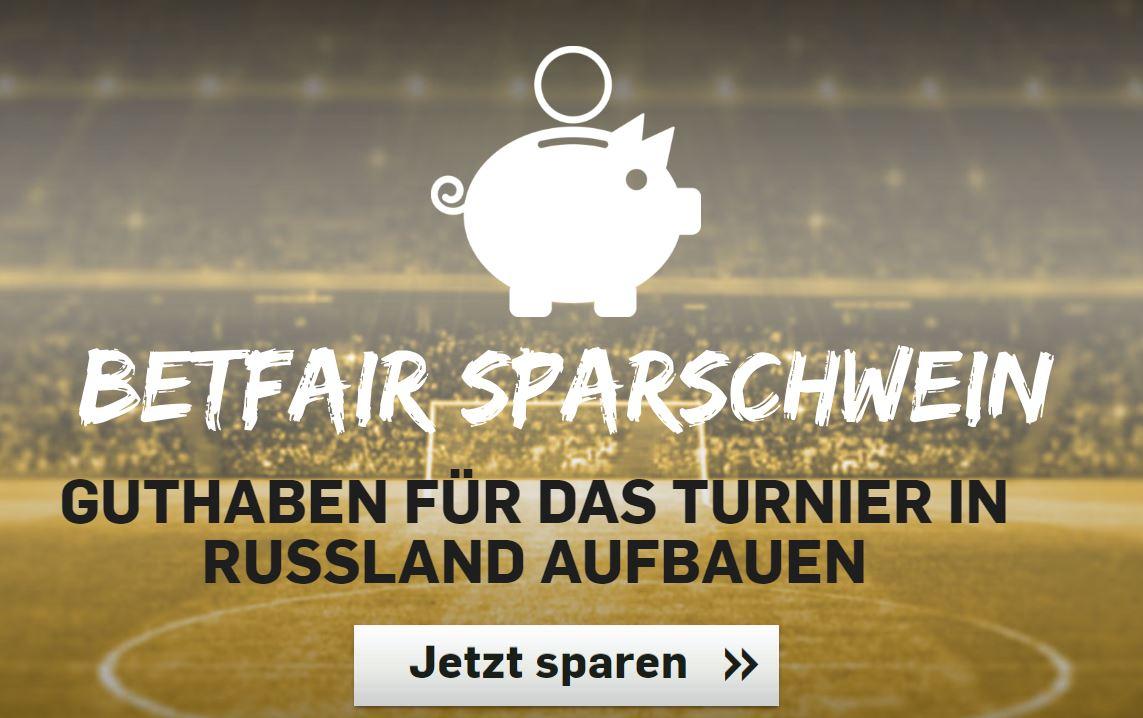 Betfair WM 2018 Sparschwein