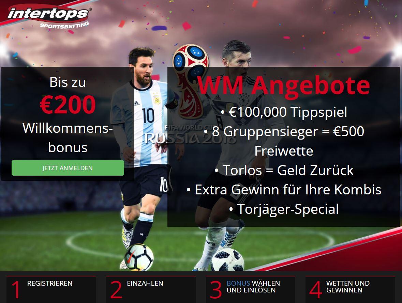 Intertops WM 2018 Angebote