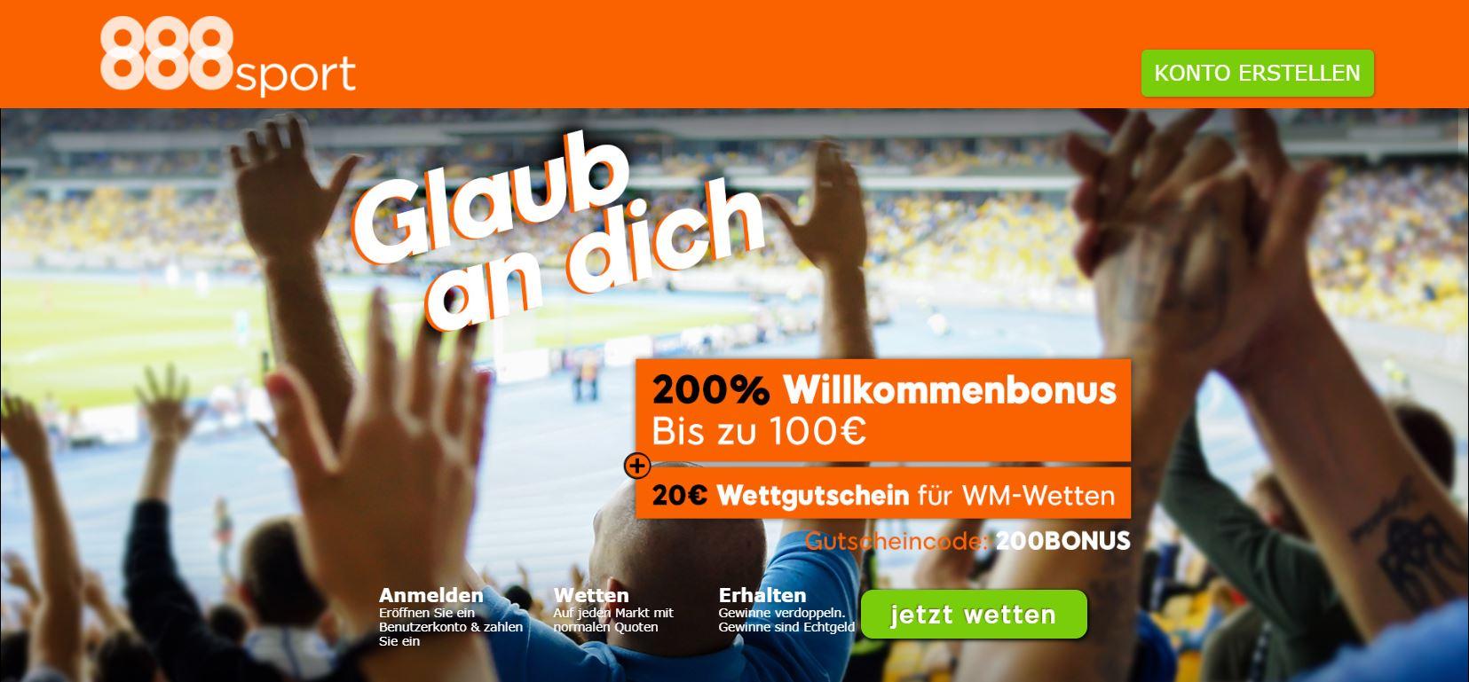 888sport WM 2018 Angebot