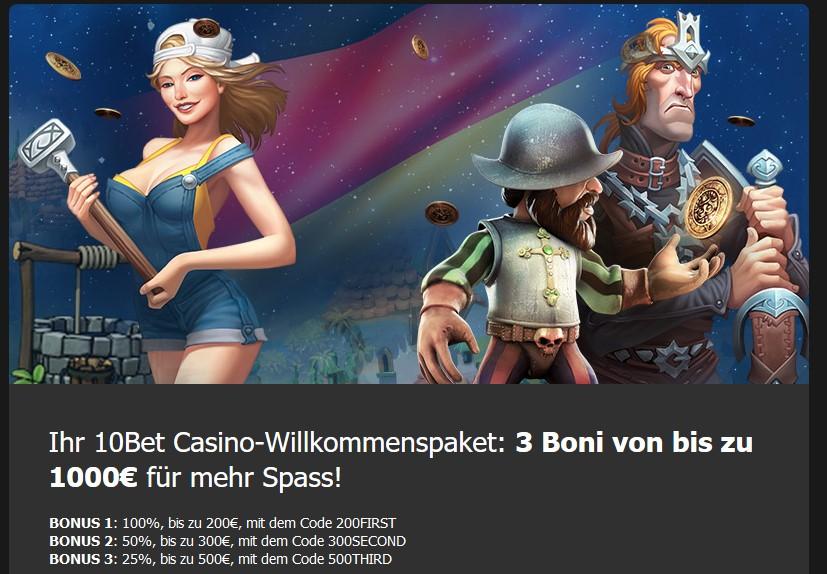 10bet casino bonus wettbonus