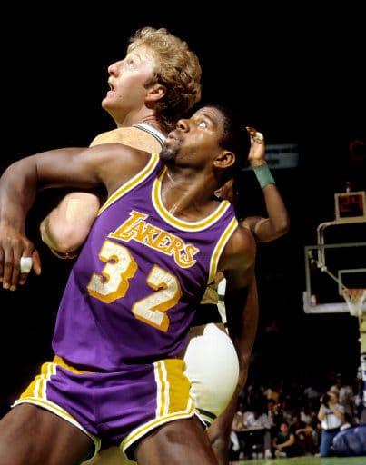 Larry Bird Magic Johnson NBA