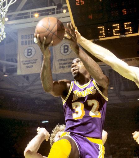 Magic Johnson 1985 NBA Finals Lakers
