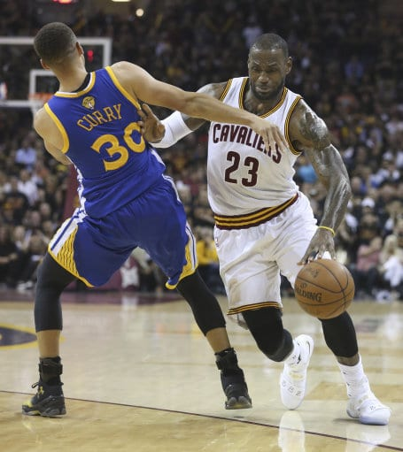 LeBron James Stephen Curry NBA Finals 2016