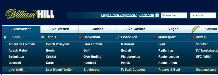 William Hill Sportwetten