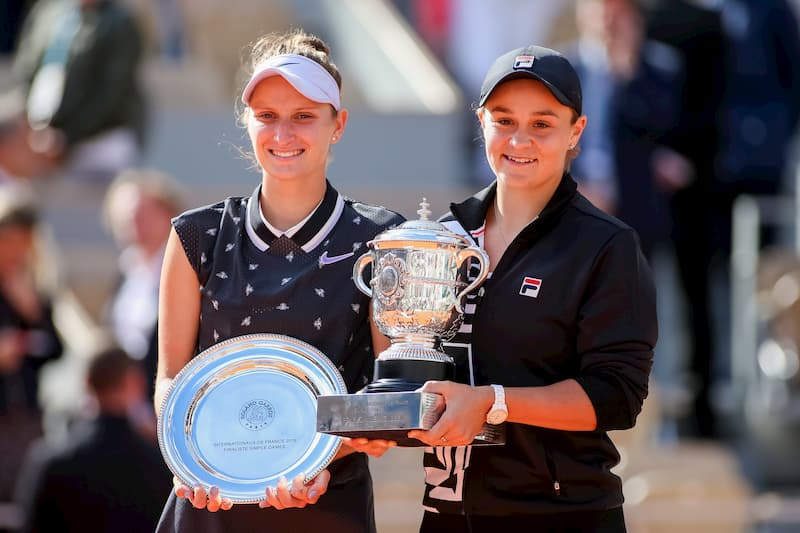 Ashleigh Barty of Australia and Marketa Vondrousova