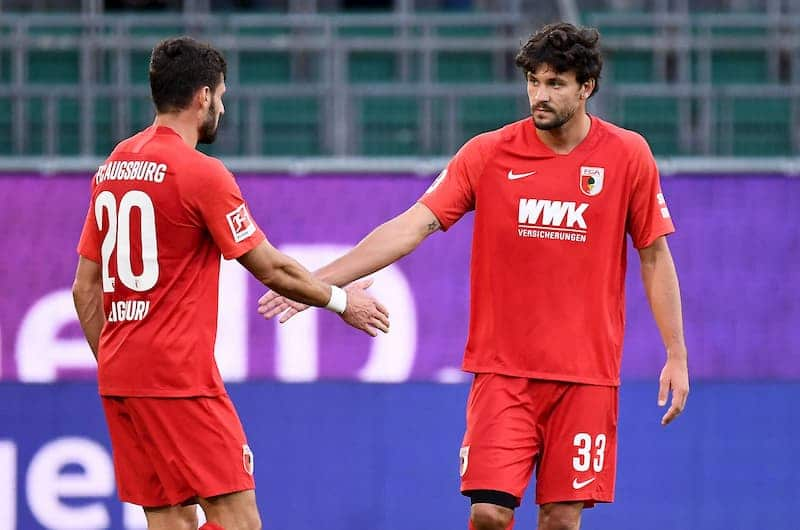 Augsburg players