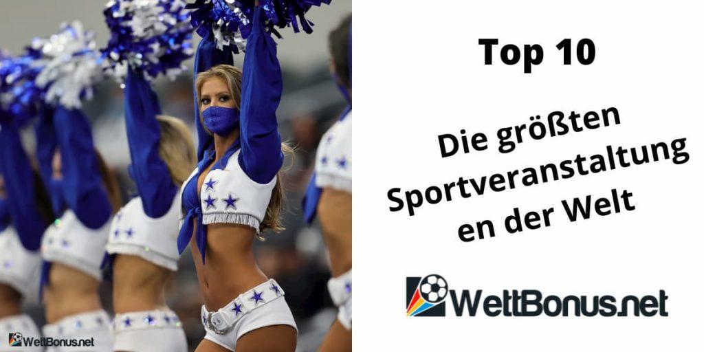 die größten Sportveranstaltungen