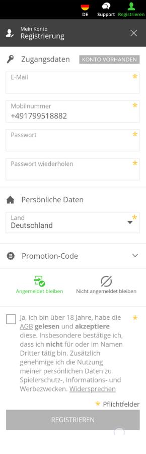 Neobet Registrierung