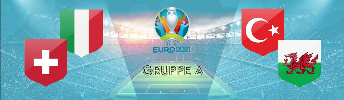 Gruppe A Tipps Quoten | Wetten auf den Gruppensieger A zur EM 2021 ( Italien, Schweiz, Türkei, Wales).