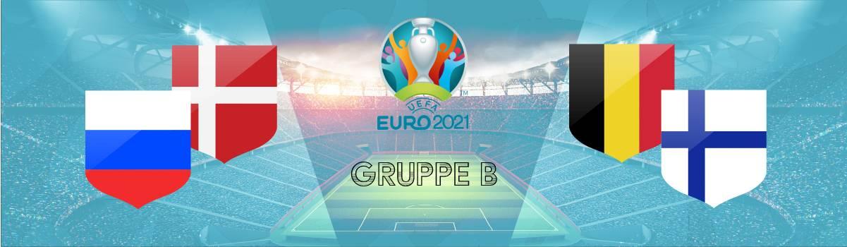 Gruppe B Tipps Quoten | Wetten auf den Gruppensieger B zur EM 2021 ( Belgien, Dänemark, Russland, Finland).