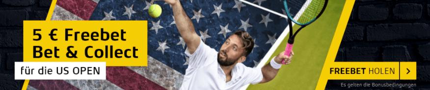 US Open Tennis Gratiswette